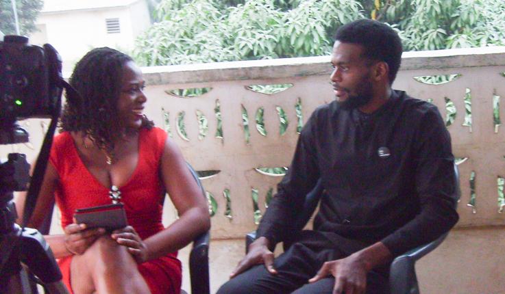 Francine Beleyi with Sename Agbodjinou
