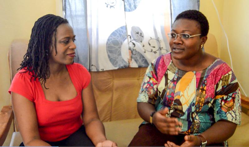 Francine Beleyi with Emefa Kpegba
