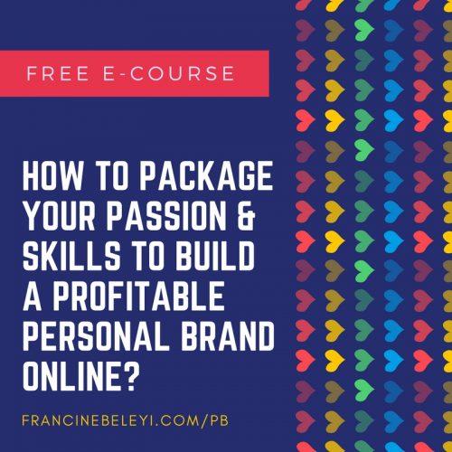 Personal branding ecourse