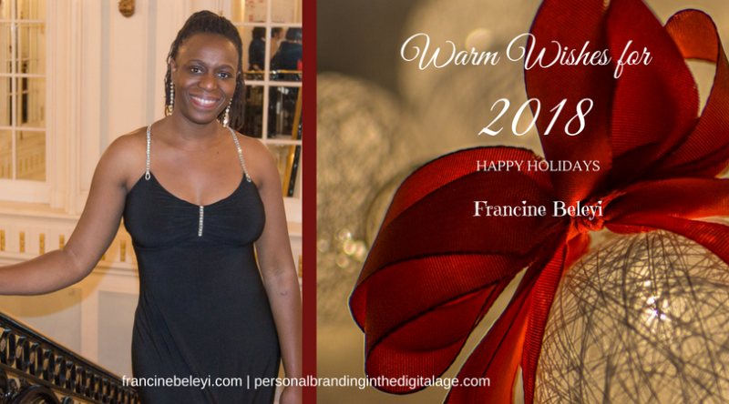 Francine Beleyi season greetings 2018