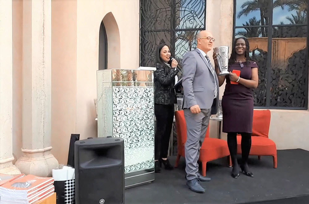 Francine Beleyi Receives the 'Trophee de l'Africanite' in Marrakech