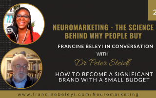 How to become a significand brand with a small budget - Dr Peter Steidl - Francine Beleyi