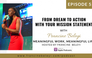 Francine Beleyi Dream to Action MWML podcast web